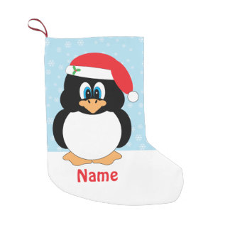 Personalized Christmas Penguin Small Christmas Stocking