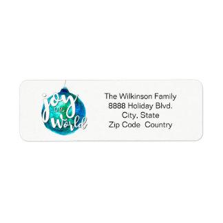 Personalized, Christmas, Photo, watercolor, script Return Address Label