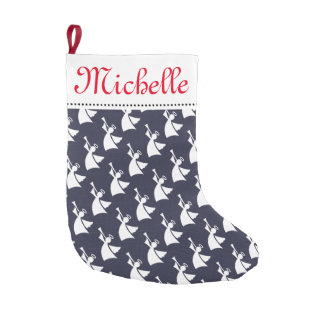 Personalized Christmas stocking with angel pattern