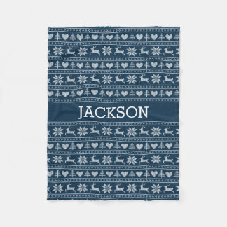 Personalized Christmas Sweater | Pick Your Color! Fleece Blanket
