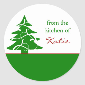 Personalized Christmas Tree Canning Stickers