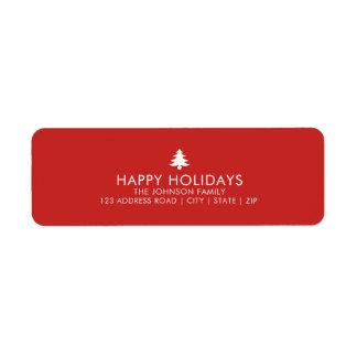 Personalized Christmas Tree Holiday Return Address Label