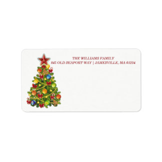 Personalized Christmas Tree Mailing Labels