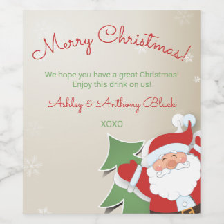 Personalized Christmas Wine Labels | Santa Claus