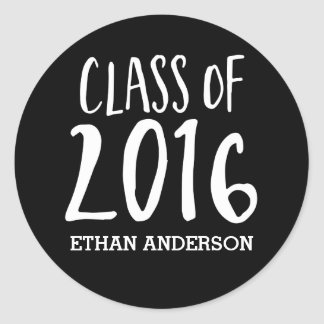 Personalized Class of 2016 Grad Envelope Seal Round Sticker
