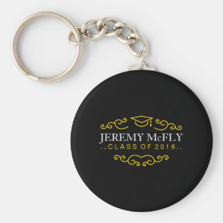 Personalized Class of 2016 Graduation Basic Round Button Key Ring