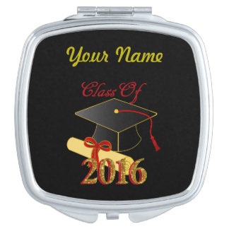 Personalized Class of 2016 Square Compact Mirror