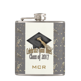 PERSONALIZED Class of 2017 Celebrate Graduation Flask