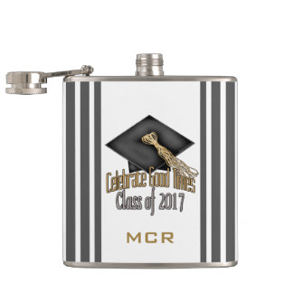 PERSONALIZED Class of 2017 Celebrate Graduation Flasks