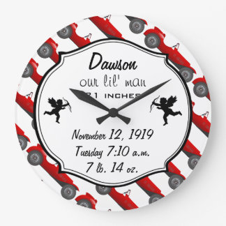 Personalized Classic Baby Boy Stat Gifts Clock