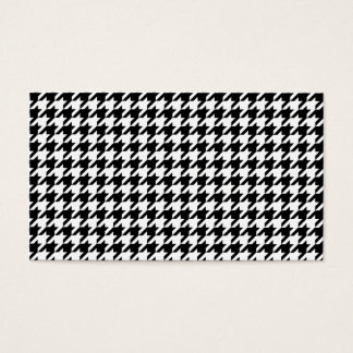 Personalized Classic houndstooth pattern Dogstooth Business Card