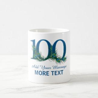 Personalized classy 100 birthday century mug