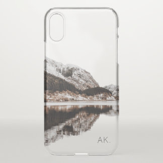 Personalized Clear iPhone X case | Mountains