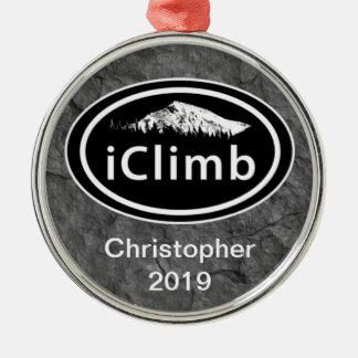 """Personalized Climbing """"iClimb"""" Mountain Ornament"""