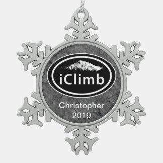 Personalized Climbing iClimb Mountain Ornament