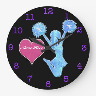 Personalized Clocks for Cheerleading Room Decor