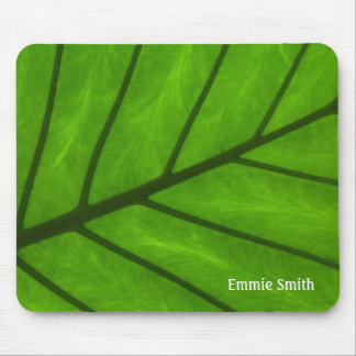 Personalized Close Up Leaf Photo Mousepad