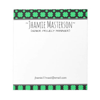 Personalized Clover Notepad