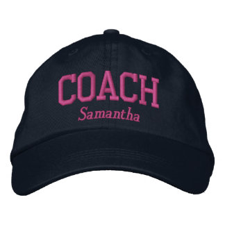 Personalized Coach in Hot Pink Embroidered Hat