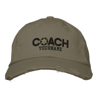 Personalized Coach Snowflake Military Style Embroidered Cap