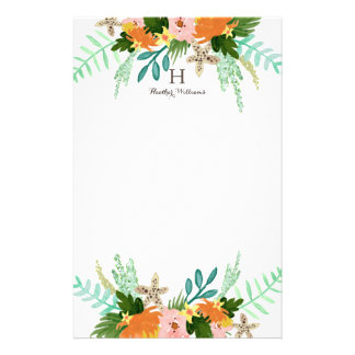 Personalized | Coastline Floral Personalised Stationery