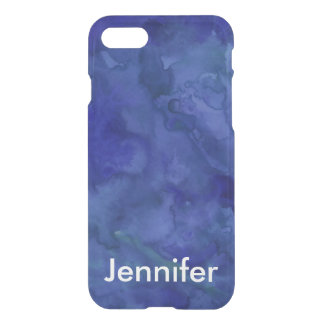 Personalized Cobalt Blue Watercolor iPhone 7 iPhone 7 Case