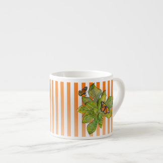 Personalized Coffe Mug with Butterflies & Leaves