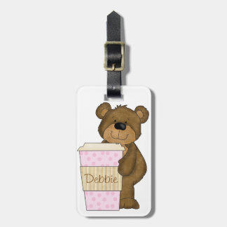 Personalized Coffee Bear LUGGAGE TAG