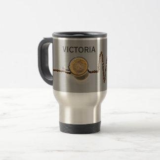 Personalized Coffee Caffeine Heartbeat Travel Mug