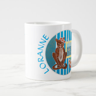 Personalized Coffee Mug Best Girlfriend with Cat