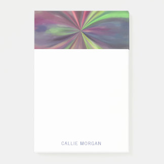 Personalized Color Swirl of Blue, Green and Magent Post-it Notes