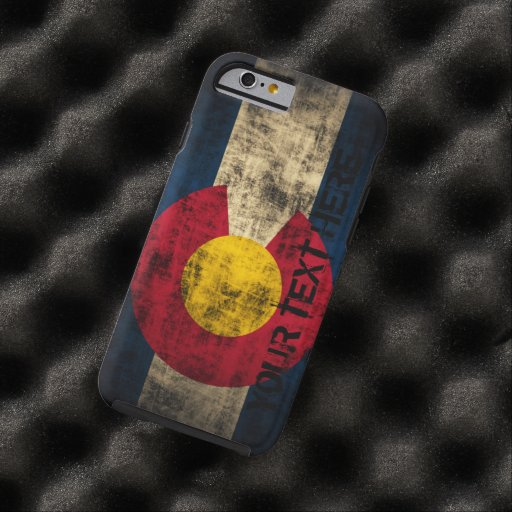 Personalized Colorado Flag Vintage Grunge iPhone 6 Case