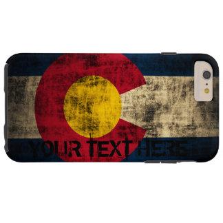 Personalized Colorado Flag Vintage Grunge Tough iPhone 6 Plus Case