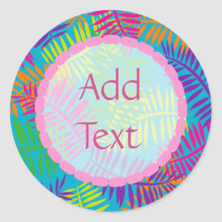 Personalized Colorful Fern Abstract Stickers