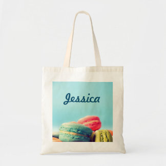 Personalized Colorful Macarons Cookies Tote Bag