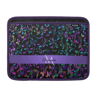 Personalized Colorful Music Notes Macbook Sleeve
