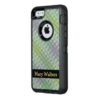 Personalized Colorful Pastel Zigzag Pattern OtterBox iPhone 6/6s Case