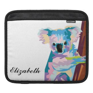 Personalized Colorful Pop Art Koala iPad Sleeve