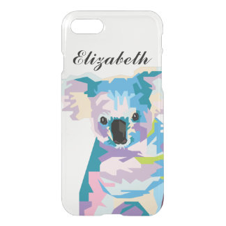 Personalized Colorful Pop Art Koala iPhone 8/7 Case