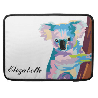 Personalized Colorful Pop Art Koala Sleeve For MacBooks