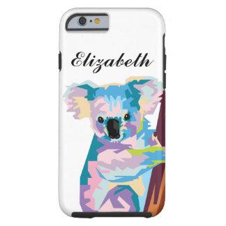 Personalized Colorful Pop Art Koala Tough iPhone 6 Case