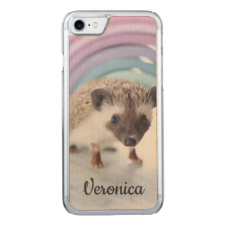 Personalized Colorfully Tiny Hedgehog Carved iPhone 8/7 Case