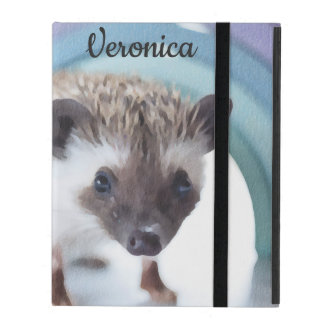 Personalized Colorfully Tiny Hedgehog iPad Cover
