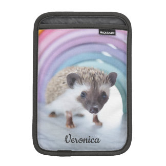 Personalized Colorfully Tiny Hedgehog iPad Mini Sleeve