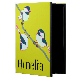 Personalized Colourful Illlustrated Chickadees Powis iPad Air 2 Case
