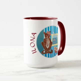 Personalized Combo Mug Best Girlfriend with Cat