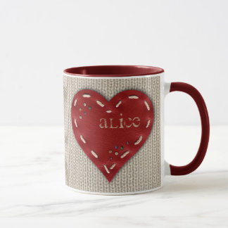 Personalized Combo Mug with Leather Heart