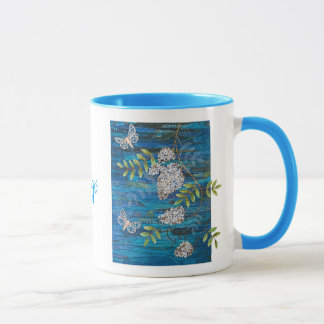 Personalized Combo Mug with Night Moths & Flowers