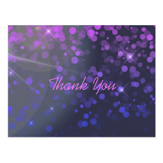 Personalized Confetti Pink Blue Thank You Postcard