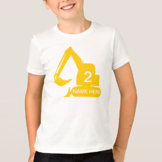 Personalized construction t-shirt with name & age